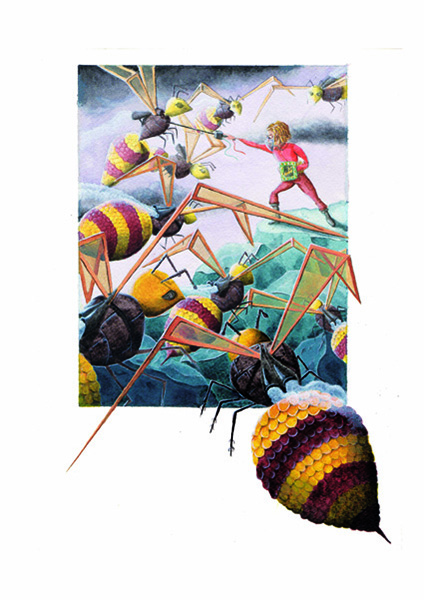 gulliver and the wasp children illustration